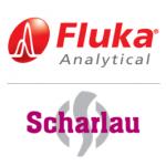 Logos der Marken Fluka und Scharlab