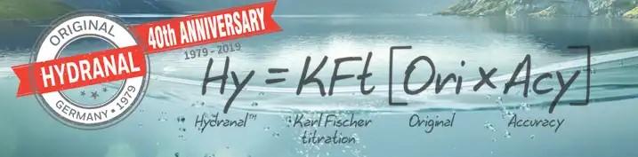 Honeywell Banner, 40th anniversary, zur Karl Fischer Titration mit Hydranal