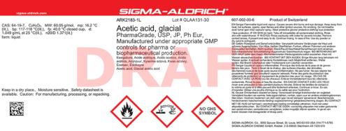 Altes Etikett der Marke SAFC vor dem Merck Rebranding