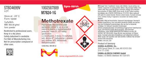 Neues Etikett der Marke Sigma-Aldrich nach dem Merck Rebranding