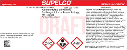 Altes Etikett der Marke Supelco vor dem Merck Rebranding