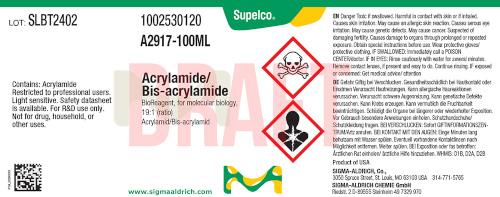 Neues Etikett der Marke Supelco nach dem Merck Rebranding