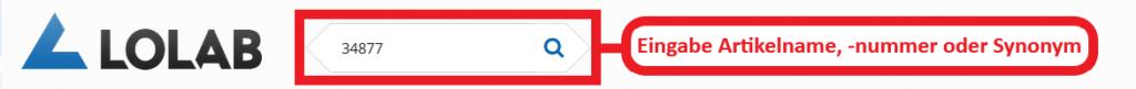 Suchabfrage zur Eingabe Artikelname, -nummer oder Synonym. Der Erste Schritt zum Sicherheitsdatenblatt.