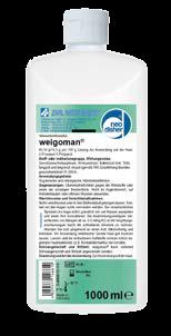 Produktflasche weigoman Händedesinfektionsmittel